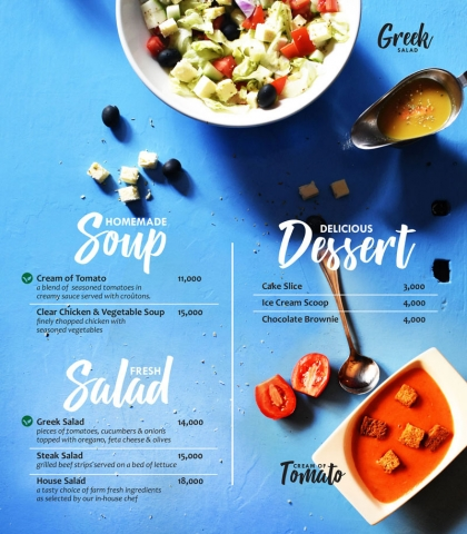 Soups and Desserts